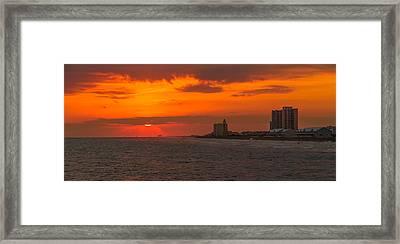 Shades Of Orange Framed Print