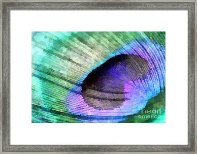 Shades Of Peacock Framed Print by Krissy Katsimbras