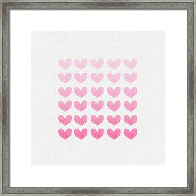 Shades Of Pink Framed Print by Aged Pixel