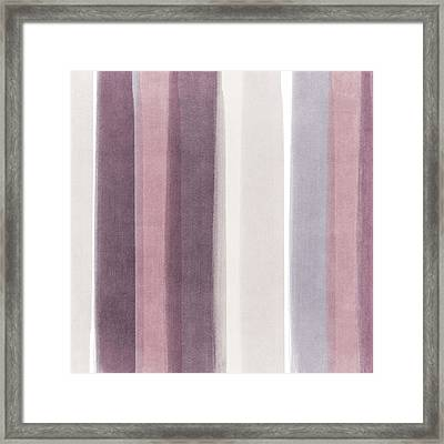 Shades Of Purple- Contemporary Abstract Painting Framed Print