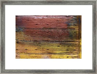 Framed Print featuring the digital art Shades Of Red And Yellow by Ron Harpham