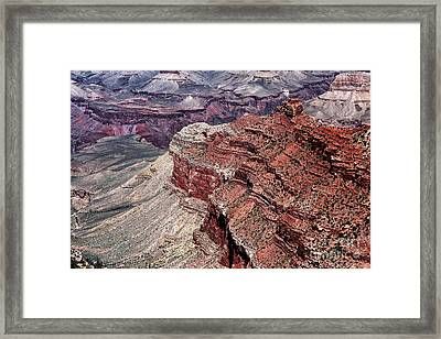 Shades Of Red In The Canyon Framed Print by John Rizzuto