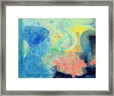 Shades Of Sleep  Framed Print by Odilon Redon