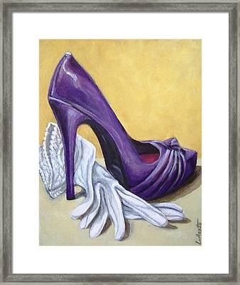 Framed Print featuring the painting Shades Of Spring by Laura Aceto