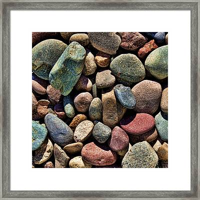 Shades Of Stone Framed Print by Kelley King