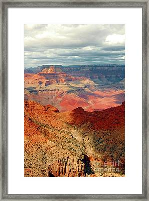 Shades Of The Canyon Framed Print by Kathleen Struckle