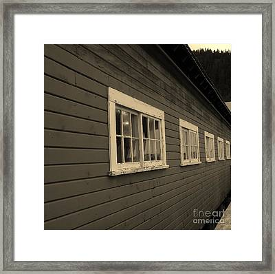 Shades Of Time Framed Print