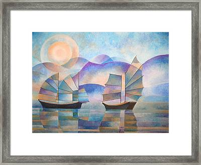 Shades Of Tranquility Framed Print