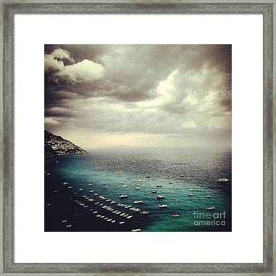 Shades Of Turquoise  Framed Print by H Hoffman