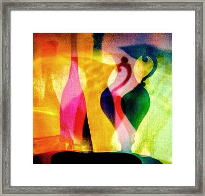Shades Of Vase And Pitcher Framed Print