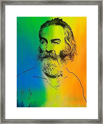 Shades Of Walt Whitman Framed Print