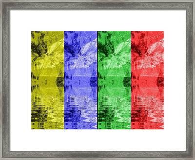 Shades Of Waves Framed Print by Kelly McManus