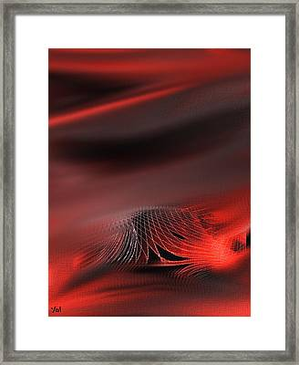 Shades Series Fire Red Framed Print