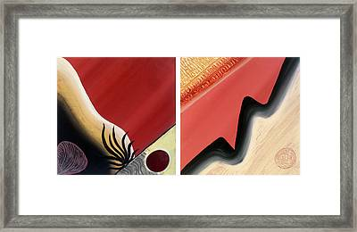 Shades Framed Print by Yafit Seruya