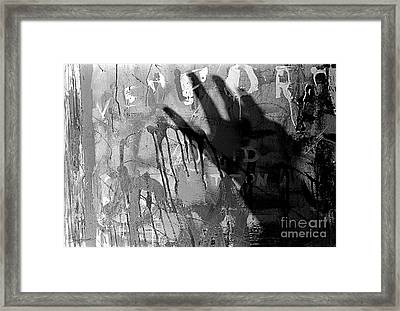 Shadow Abstract Framed Print