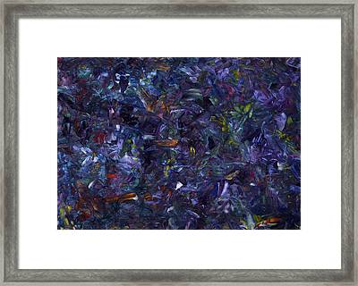 Framed Print featuring the painting Shadow Blue by James W Johnson
