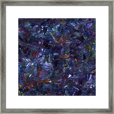 Framed Print featuring the painting Shadow Blue Square by James W Johnson