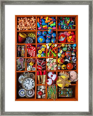 Shadow Box Collection Framed Print by Garry Gay