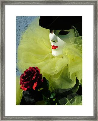 Shadow Cast Over Eye Framed Print by Donna Corless