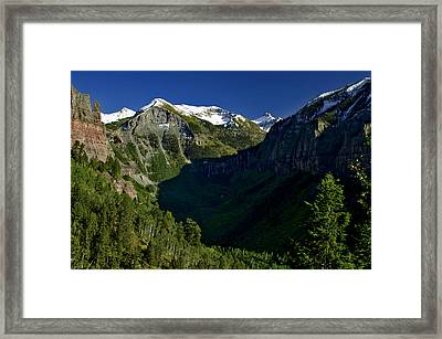 Framed Print featuring the photograph Shadow Descends by Jeremy Rhoades