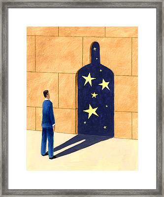 Shadow Door Framed Print by Steve Dininno