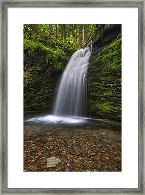 Shadow Falls Framed Print by Mark Kiver