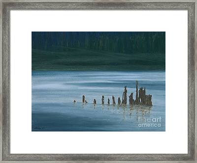 Shadow Host In The Mist Framed Print