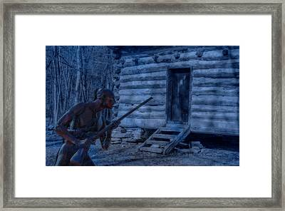 Shadow In The Darkness One Framed Print by Randy Steele