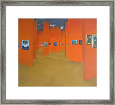 Shadow In The Gallery Framed Print