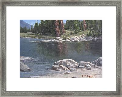 Shadow Lake  Framed Print by Mar Evers