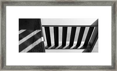 Shadow Lines - Architectural Abstracts Framed Print