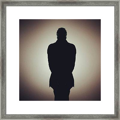 Shadow Man For Iphone  Framed Print