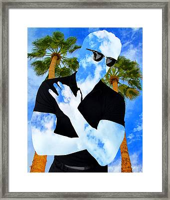 Shadow Man Palm Springs Framed Print