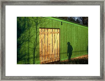 Shadow Man Framed Print by Rodney Lee Williams