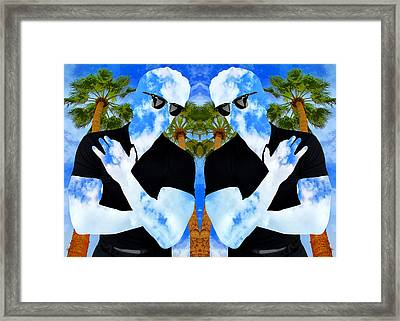 Shadow Men Palm Springs Framed Print by William Dey