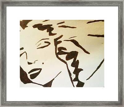 Shadow Monroe Framed Print by Krystyn Lyon