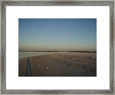 Framed Print featuring the photograph Shadow Moon by Robert Nickologianis