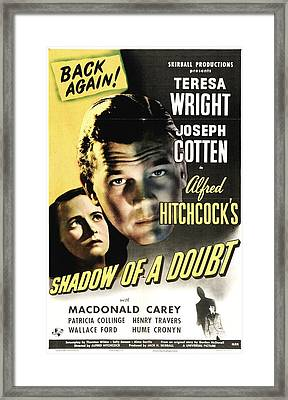 Shadow Of A Doubt - 1943 Framed Print