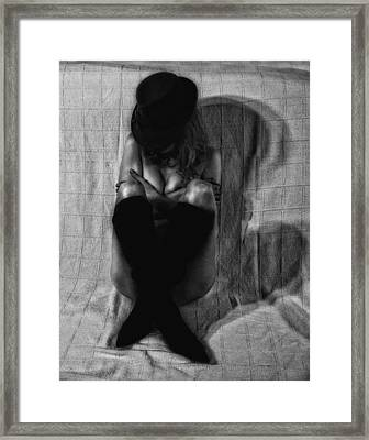 Shadow Of A Woman Framed Print by Donna Blackhall