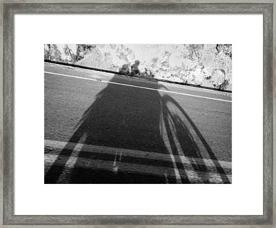 Shadow Of Adventure Framed Print
