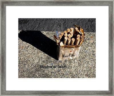 Framed Print featuring the photograph Shadow Of Death by Marie Neder