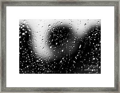 Shadow Of Fear Framed Print by Charles Dobbs