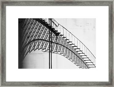 Shadow Of The Climb  Framed Print by Jack Zulli