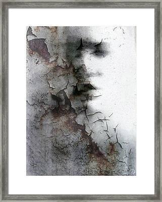 Shadow On A Wall Framed Print