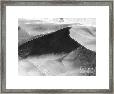 Shadow On The Land Framed Print