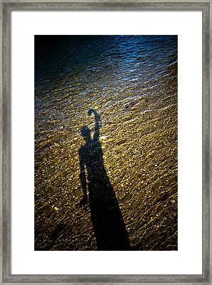 Shadow On The Water Framed Print by Joel Loftus