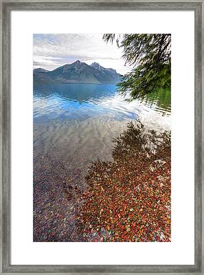 Shadow Pebbles Framed Print