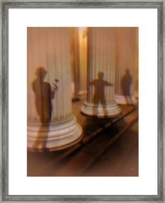 Shadow Play Framed Print by Li   van Saathoff