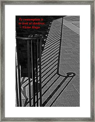 Shadow Railing Framed Print by Andy Lawless