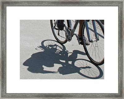 Shadow Rider Framed Print by Susan OBrien